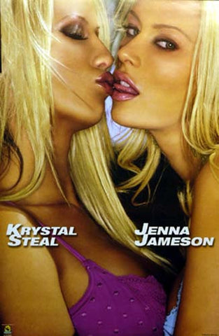 JENNA JAMESON KISSING KRYSTAL STEAL 23x35 POSTER