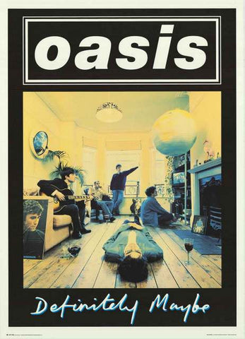 Oasis Definitely Maybe Album Cover 1994 Poster 25x35