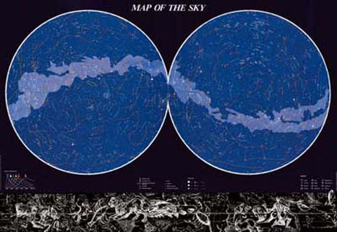 Map of Stars Constellations Poster