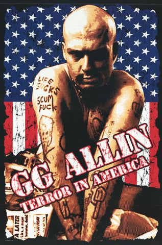 GG Allin Terror in America Art 24x36 Poster