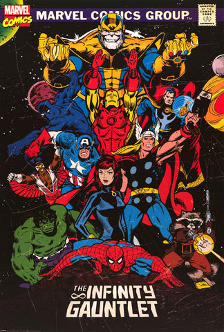 The Infinity Gauntlet Marvel Comics Poster