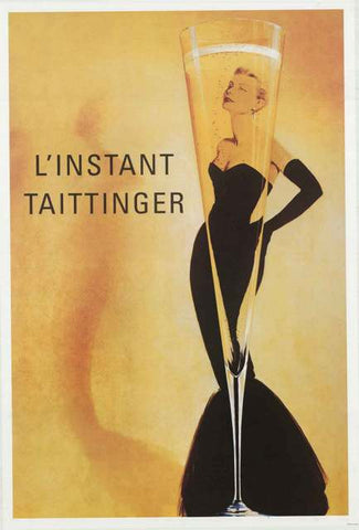 Taittinger Champagne Grace Kelly Poster