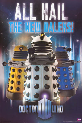 Doctor Who Daleks TV Show Poster