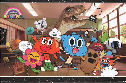 Amazing World of Gumball Cartoon Poster