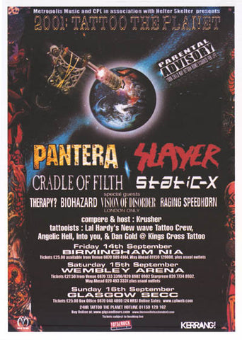 Tattoo the Planet UK Tour Poster