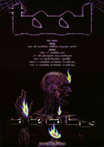 Tool Lateralus 2001 UK Tour Alex Grey Art 24x34 Poster