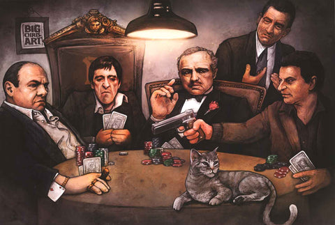 Mafia Gangsters Playing Poker Poster
