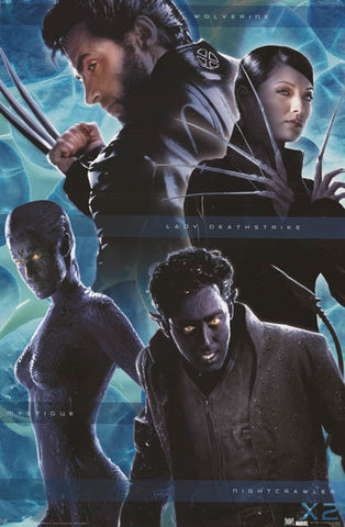 X-Men 2 Marvel Comics Movie Poster