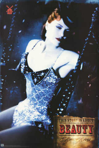 Moulin Rouge Satine Nicole Kidman 2001 Poster 24x36