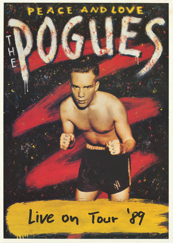 The Pogues Peace and Love Original 1989 Tour Poster 24x34