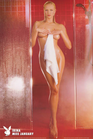 Playboy Playmate Irina Miss January 2002 Sexy Nude Erotic Poster 24x36