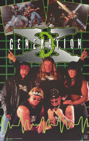 D-Generation X WWF Wrestling Poster