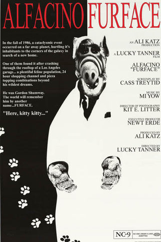 ALF Scarface Parody Poster