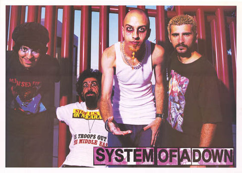 System of A Down Toxicity Band Shot 2002 25x35 Poster