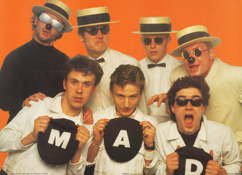 Madness Goofy Geezers Original 1982 Band Portrait Music Poster 24x34