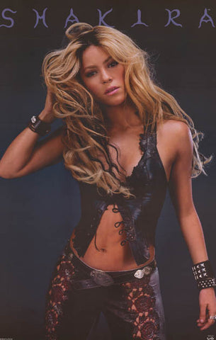 Shakira Leather and Lace Original 2002 Sexy Portrait Poster 22x34