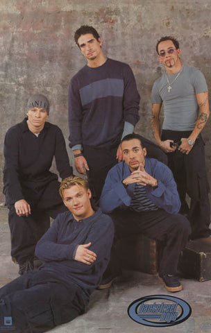 Backstreet Boys Straight Up Original 1999 Group Portrait Poster 22x35