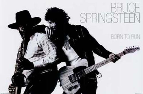 Bruce Springsteen Born to Run w/ Clarence 24x36 Poster