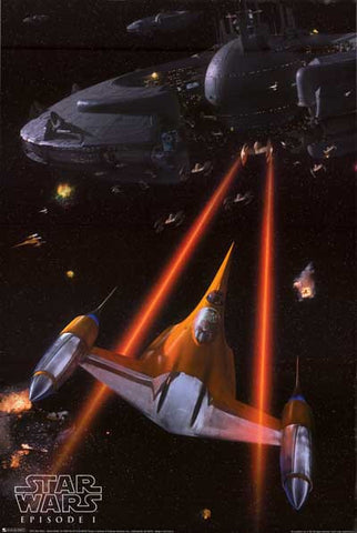 Star Wars Naboo N-1 Starfighter Episode I 24x36 Poster