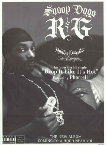 Snoop Dogg Rhythm and Gangsta Album release Ad Music Poster 25x35