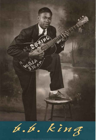 BB King Young Portrait Poster