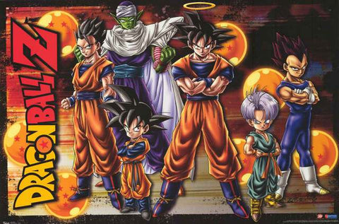 Dragon Ball Z Cartoon Cast Line-Up 2009 Anime Poster 22x34