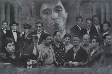 Famous Mafia Movie Gangsters Poster