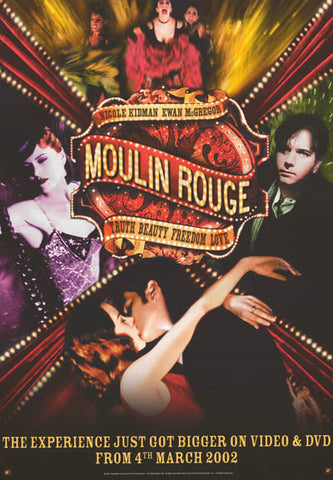 Moulin Rouge Cast Collage Kidman McGregor 20x27 Poster