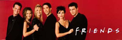 Friends TV Cast Red Mini Poster