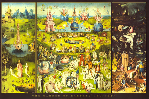 Hieronymus Bosch Garden of Earthly Delights Poster 24x36
