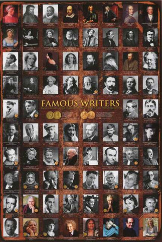 Famous Writers Poster
