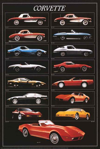Chevy Corvette Poster