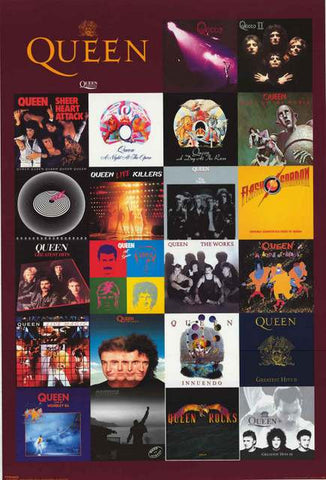 Queen Album Covers Poster