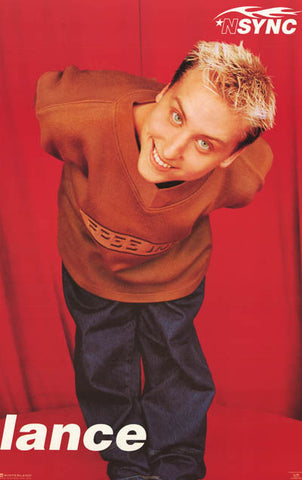N'Sync Lance Bass Portrait Poster