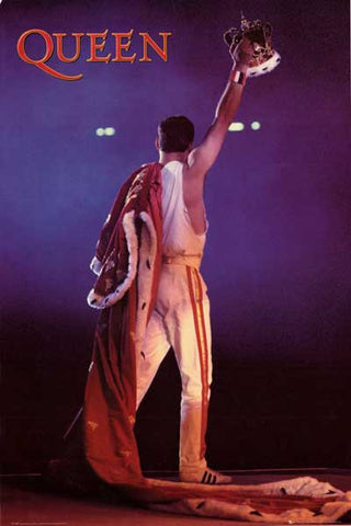 Queen King Freddie Mercury Wembley 24x36 Poster