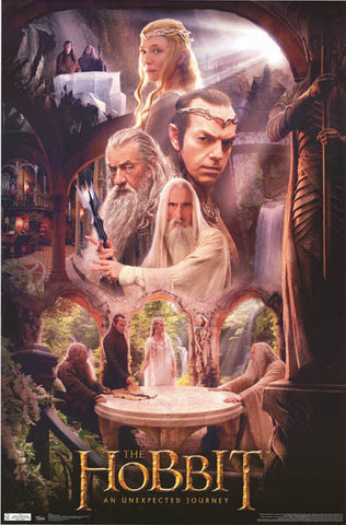The Hobbit Rivendell Wizards Poster