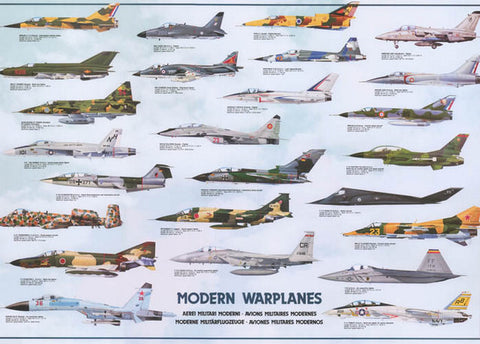 Military Warplanes Fighter Aircraft Poster