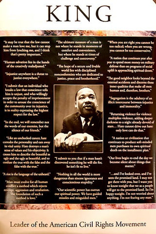MARTIN LUTHER KING JR MLK FAMOUS QUOTES 24x36 POSTER
