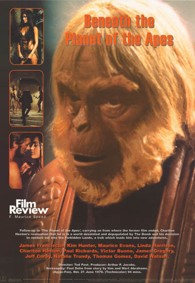 beneath the planet of the apes film review poster 24x34