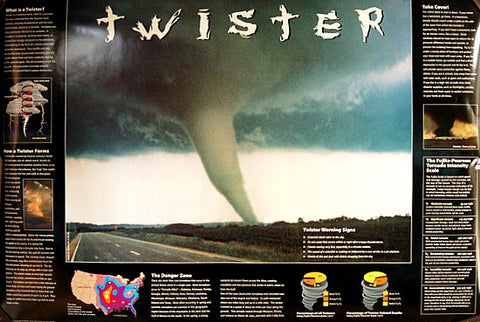 Tornado Twister Facts and Figures 24x36 Poster