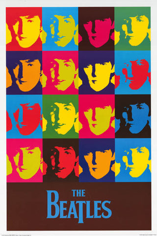 Beatles Pop Art Lennon McCartney 24x36 Poster