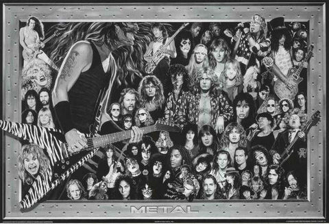 Heavy Metal Bands Poster