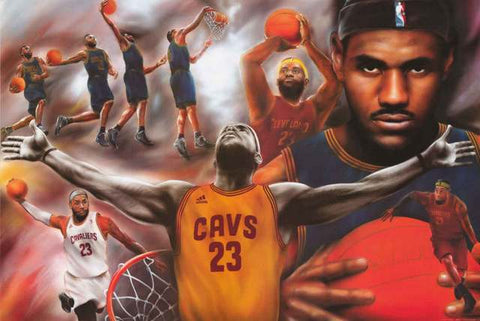 LeBron James Basketball Poster