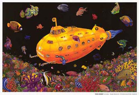 Yellow Submarine Tom Masse Poster
