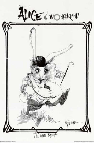 Ralph Steadman White Rabbit Poster