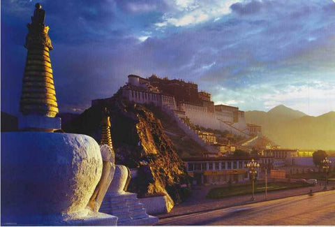 Potala Palace Buddhist Temple Poster