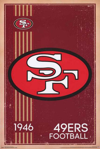 San Francisco 49ers NFL Football Poster