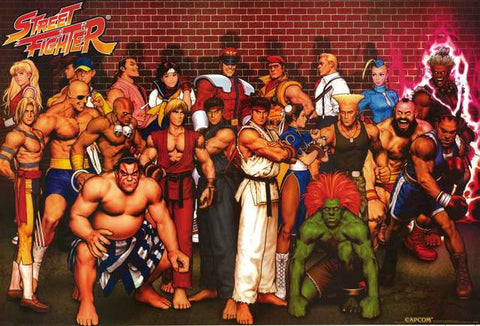Street Fighter Video Game Poster