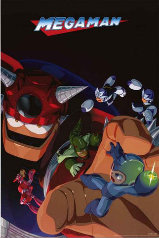 Mega Man Video Game Poster