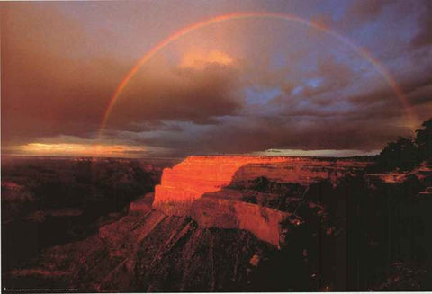 Grand Canyon Rainbow Poster